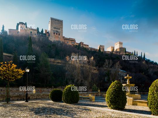 La Alhambra from Paseo de los Tristes, Granada